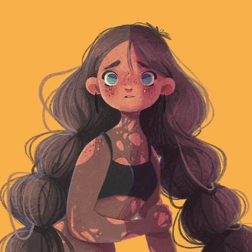 Ilustración del autor Milvilla