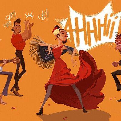 Ilustración del autor James A. Castillo